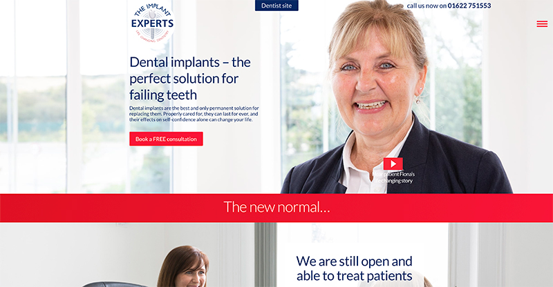 Digital Beacon work example image of The Implant Experts